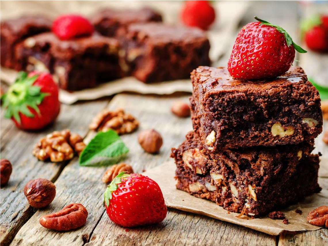 Receta de Brownie de chocolate y nueces vegano